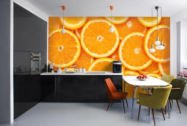 Papel pintado fotomurales alimentos for Fotomurales para cocinas