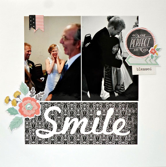 Wedding Scrapbook Layout (via shezigzags.blogspot.com)