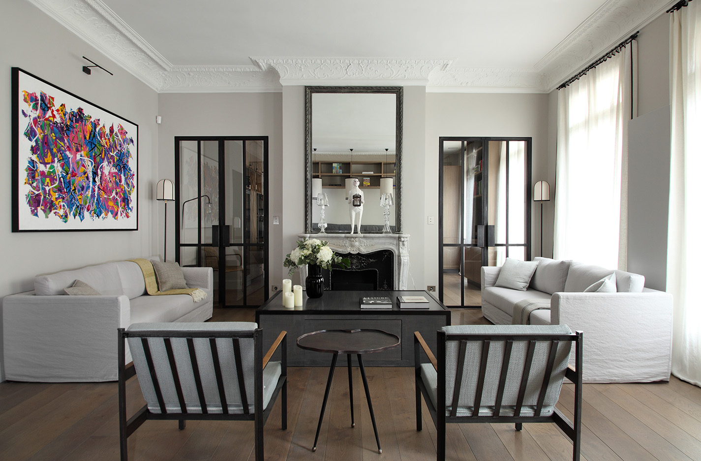 2eme porte a gauche int rieur parisien par david gaillard for Interieur chic parisien