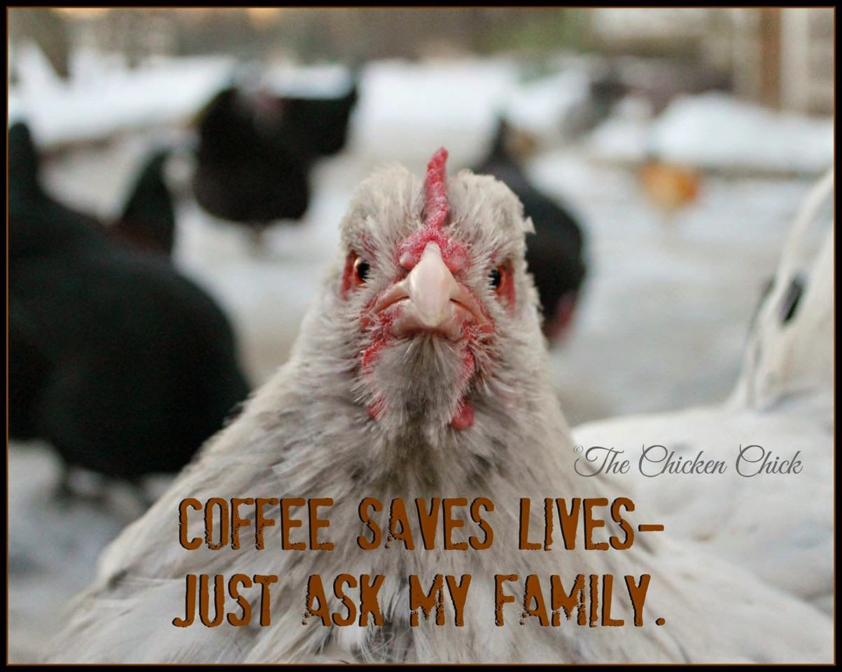 Coffee saves lives- just ask my family.