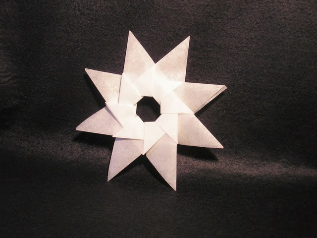 Origami Paper Folding Ninja Star Origami Flower Easy