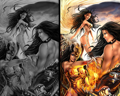 30 Fantasy Mythical Girls 3D Wallpapers