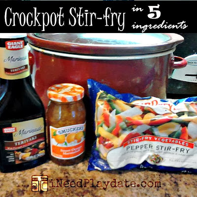 Dinner in 5 Ingredients - Crockpot Pork Stir-fry Recipe
