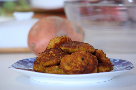 fried sweet potato dumpling vegetarian recipe