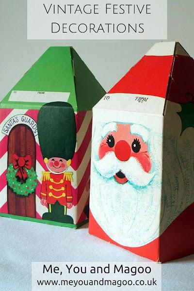 childhood, christmas, handmade, nostalgia, retro, vintage, retro, festive, father christmas, pom pom, wool, gift boxes, robins