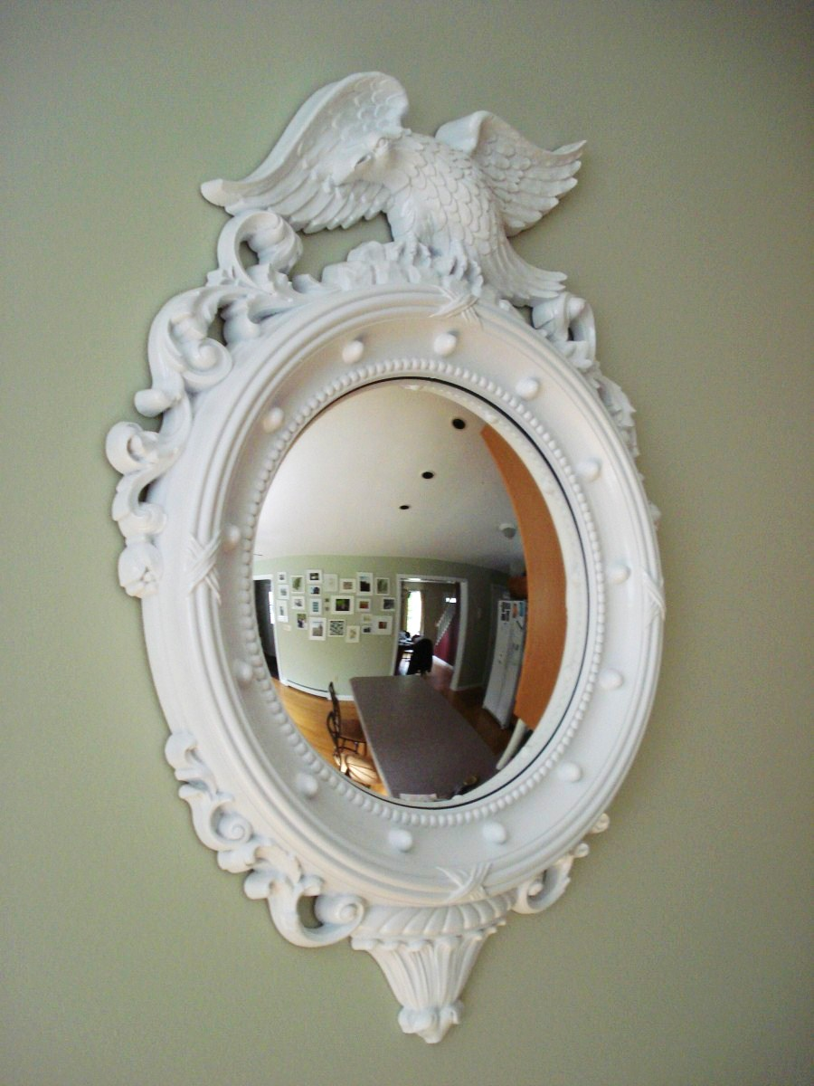 Heart maine home convex mirror revamp before and after for Convex mirror for home