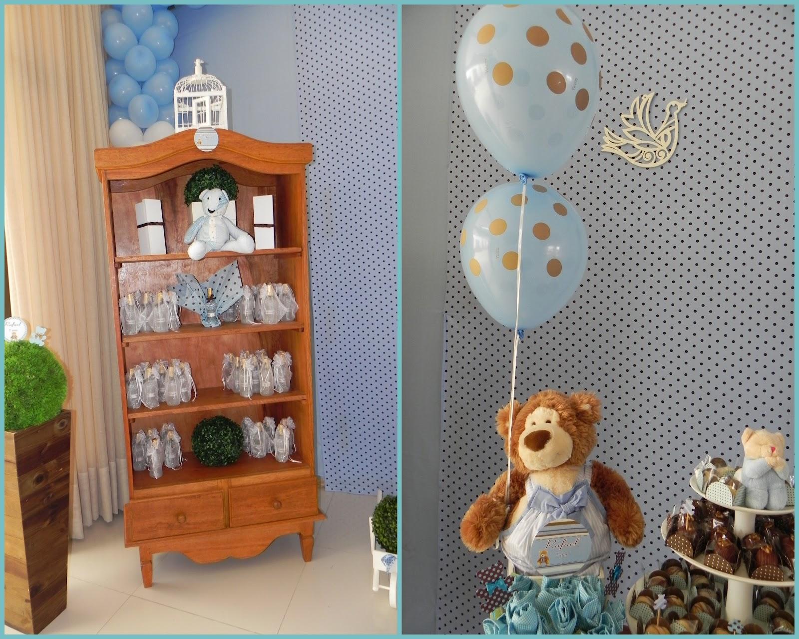 decoracao festa urso azul e marrom:Edfau Festas: URSINHOS AZUL COM POÁ MARROM