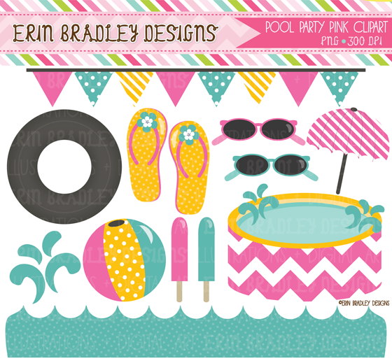 Pool party clipart clipart for work for Knebel design pool ug