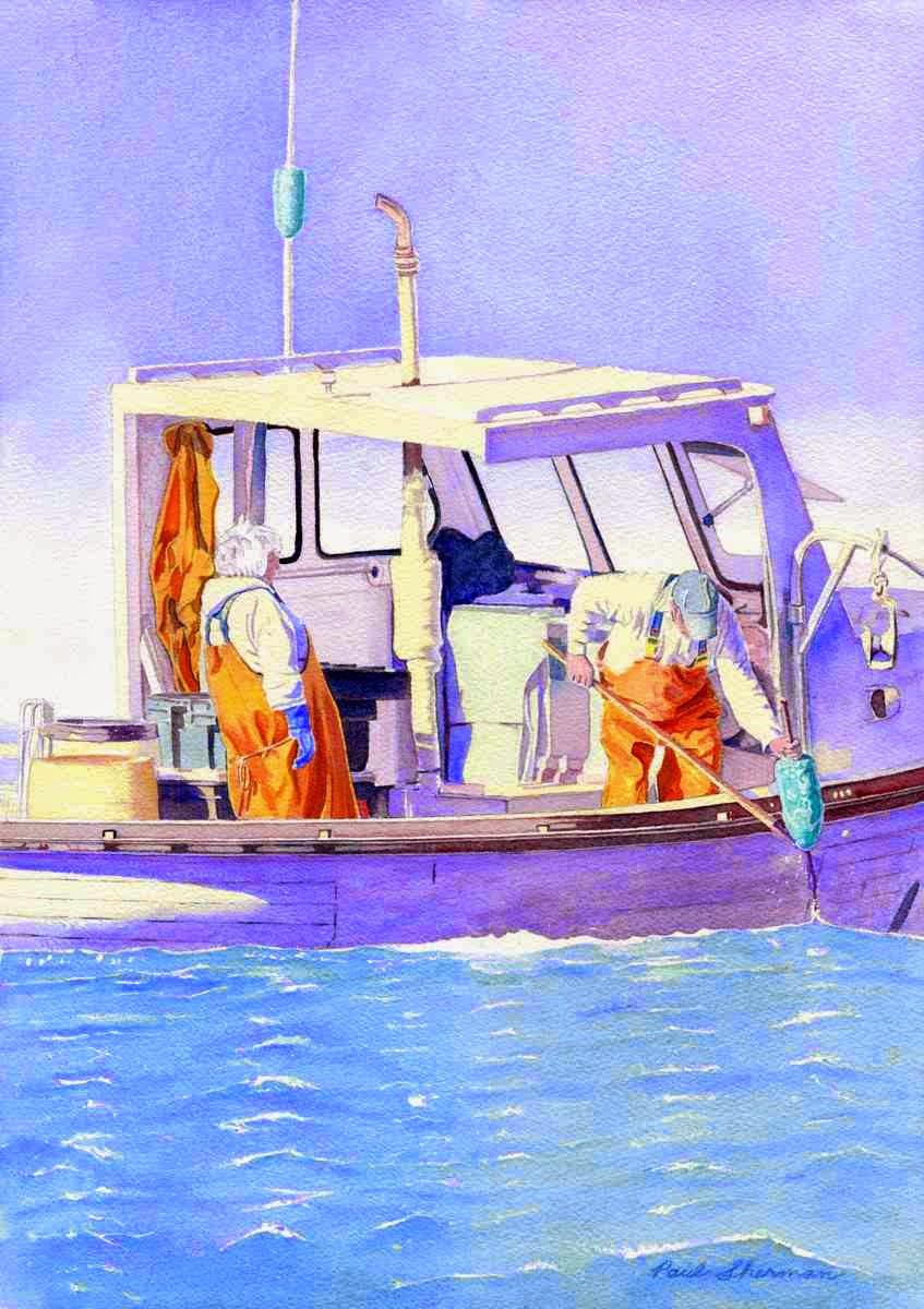 "The Long Haul - Watercolor 14"" x 20"""