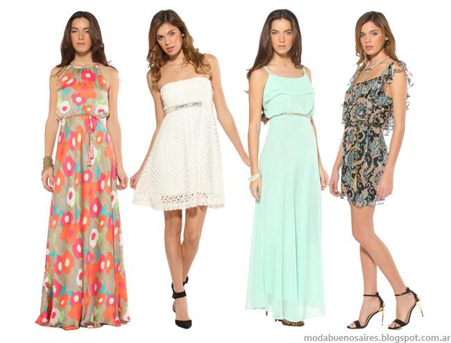 Vestidos 2014 Melocotón verano 2014 moda vestidos.
