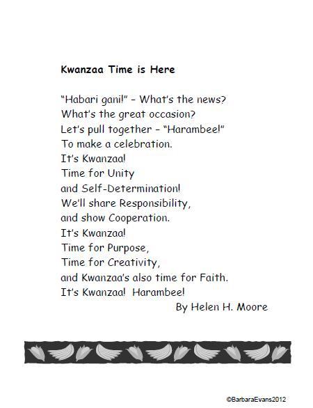 Similiar Kwanzaa Poetry Keywords