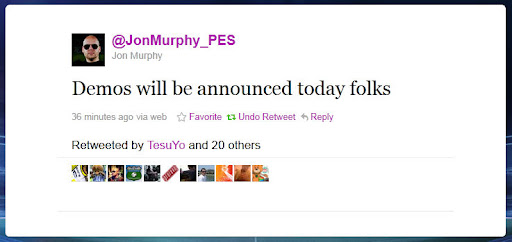 PES 2012 Demos To Be Officially Announced Today - Jon Murphy