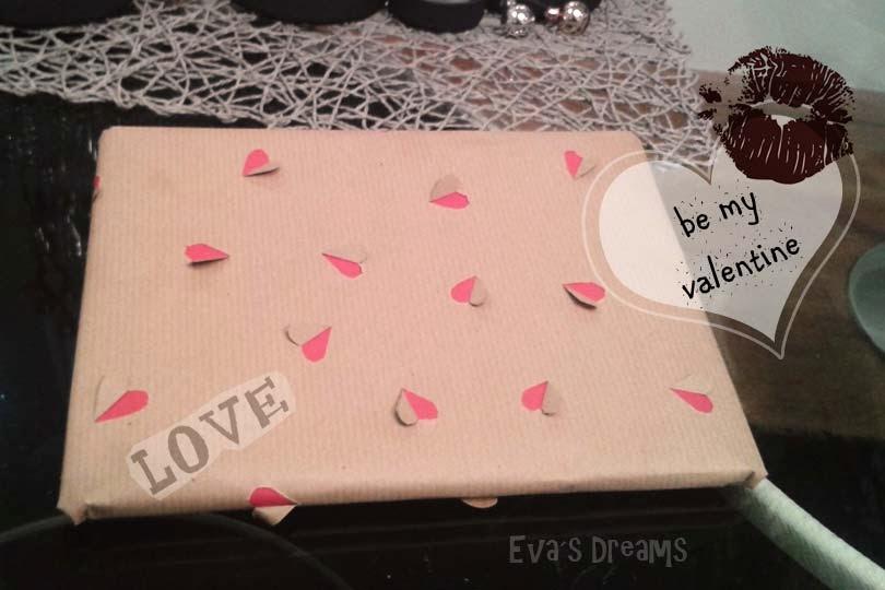 Do it yourself: Valentine Geschenkpapier