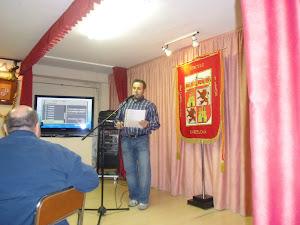 Recitando en el Círculo de Castilla y León-