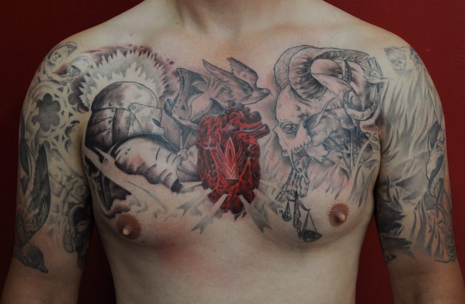 Good Vs Evil Skull Tattoo Designs | www.pixshark.com ...