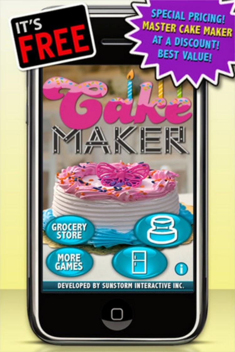 لعبة عمل الكيك وتزينه للبنات للايفون Cake Maker