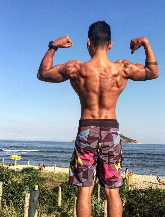 Atleta Rafael Carvalho ganhou 17 kg nos últimos cinco meses. Foto: Arquivo pessoal