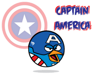 Captain America Superheroes estilo Angry Birds
