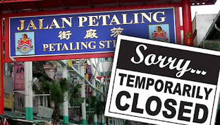 Petaling Street ditutup sehari Rabu ini