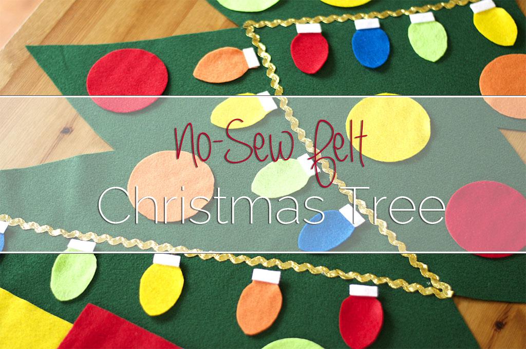 NoSew Felt Christmas Tree Tutorial Gorgeous Felt Christmas Tree Pattern