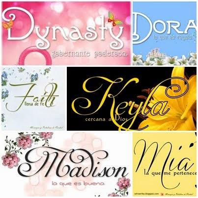 Nombres de mujer y su significado