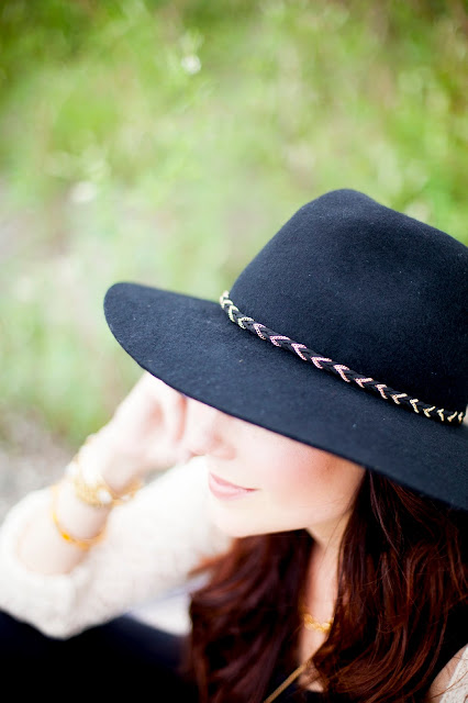 Amy West in Boho Felt Hat