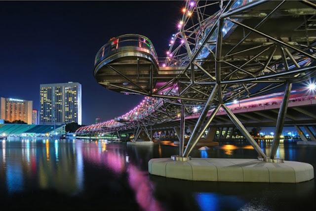 The Helix Bridge at Marina Bay, Singapore
