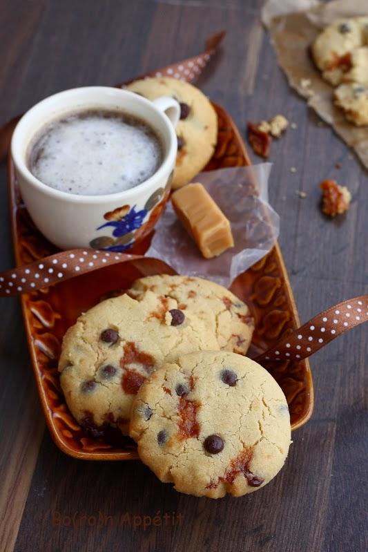 Ciasteczka z krówkami, toffi