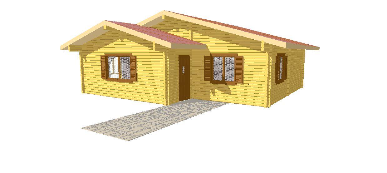 Progetti di case in legno casa 80 mq for Progetti di casa sollevati
