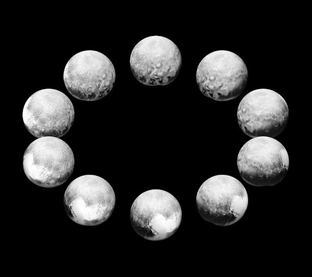 Plutón girando