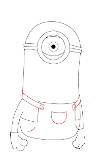 How To Draw Despicable Me Minon Step 7