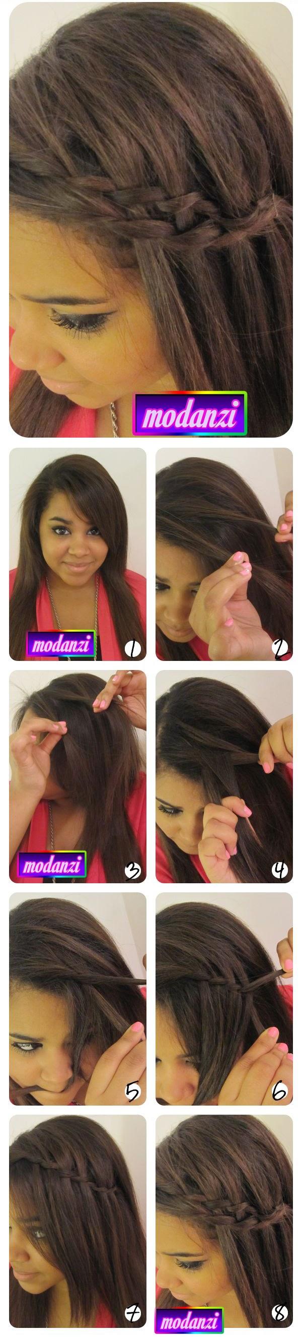 Şelale Dökümlü Örgülü Saç Modeli Nasıl Yapılır ? ( Resimli Anlatım )