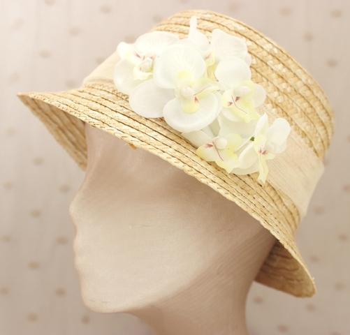 Colección Orquídea - Canotier Orquídea Blanca