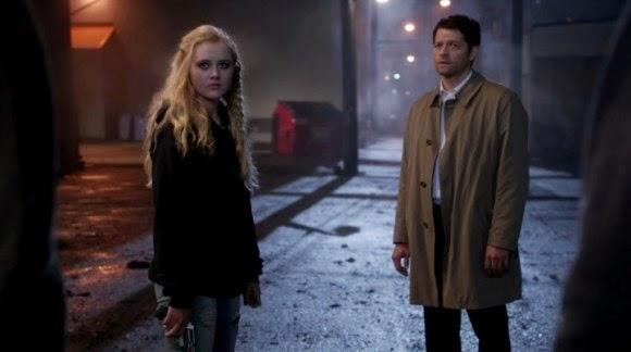 Supernatural S10E09. Castiel pidiendo perdón a Claire.