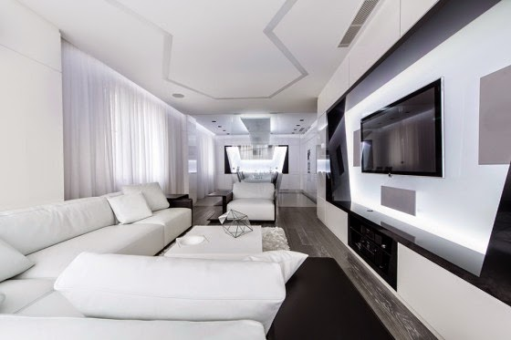 Futuristic apartment room design