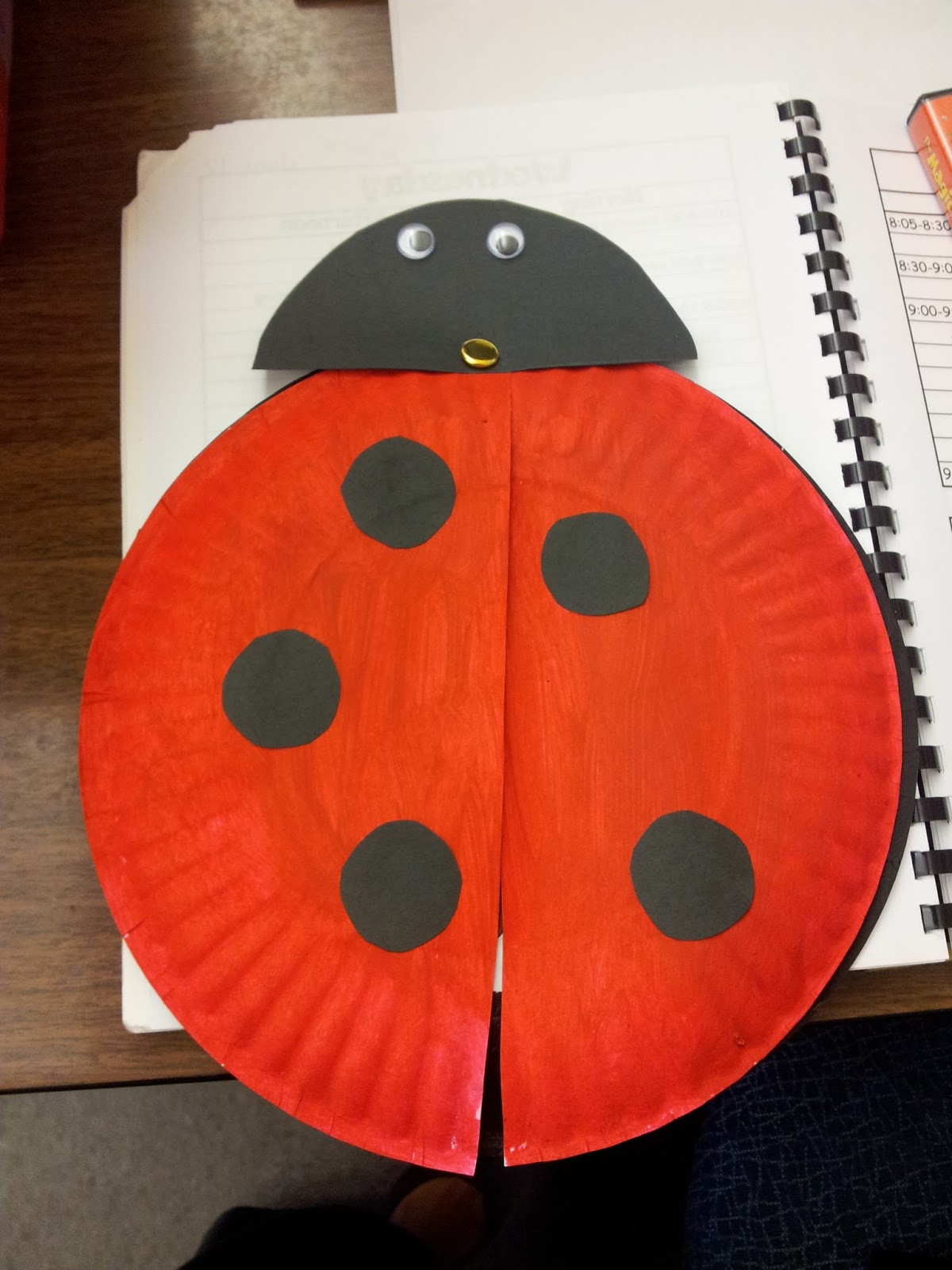 : paper plate lady bugs - pezcame.com