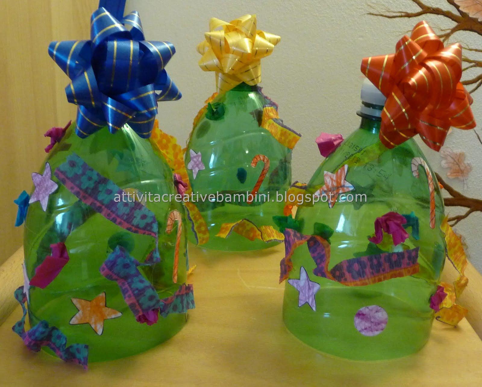 spesso Alberello di Natale riciclando una bottiglia di plastica UN27