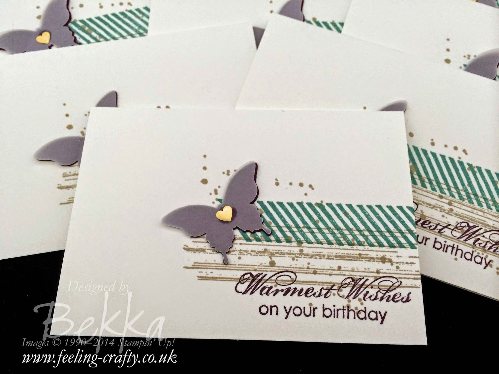 Simple Birthday Butterfly Cards using Stampin' Up! Supplies which you can get here