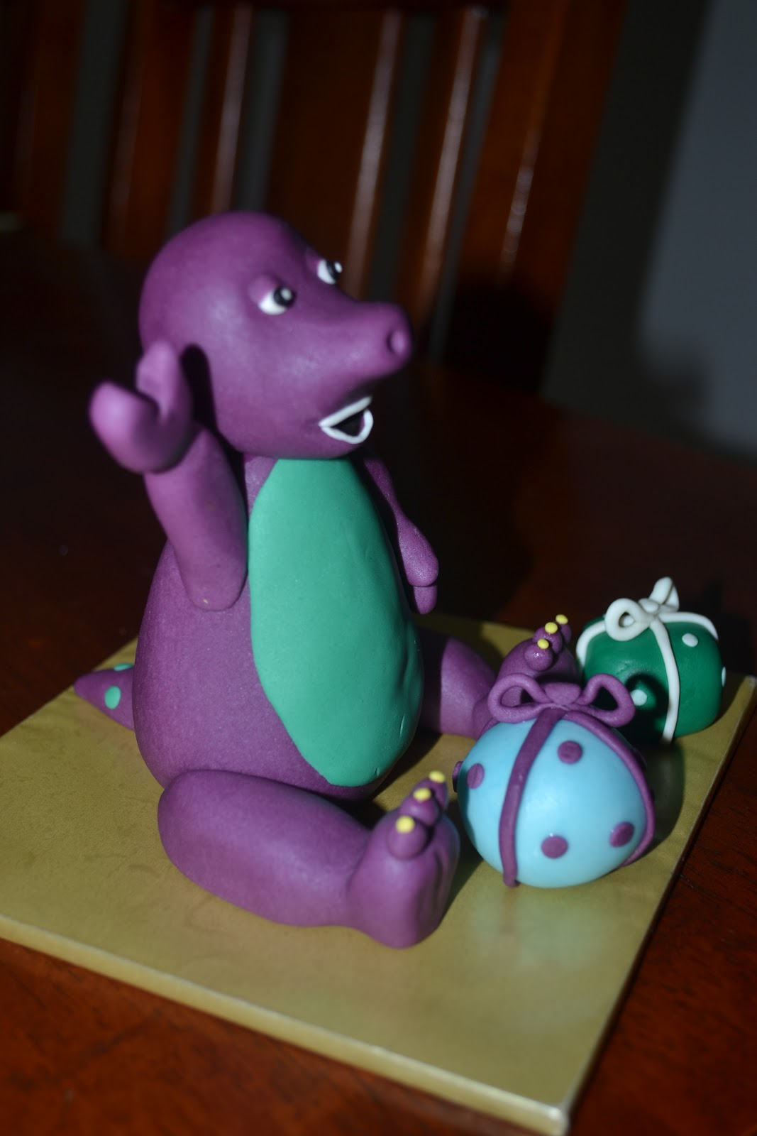 Barney Figurines Cake Topper