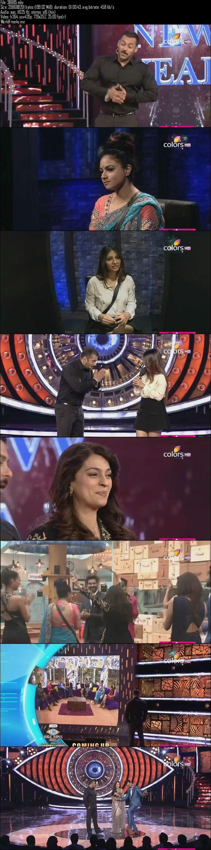 Screenshots Of Hindi Show Bigg Boss 9 3rd January 2016 Episode 85 200MB 480P HD