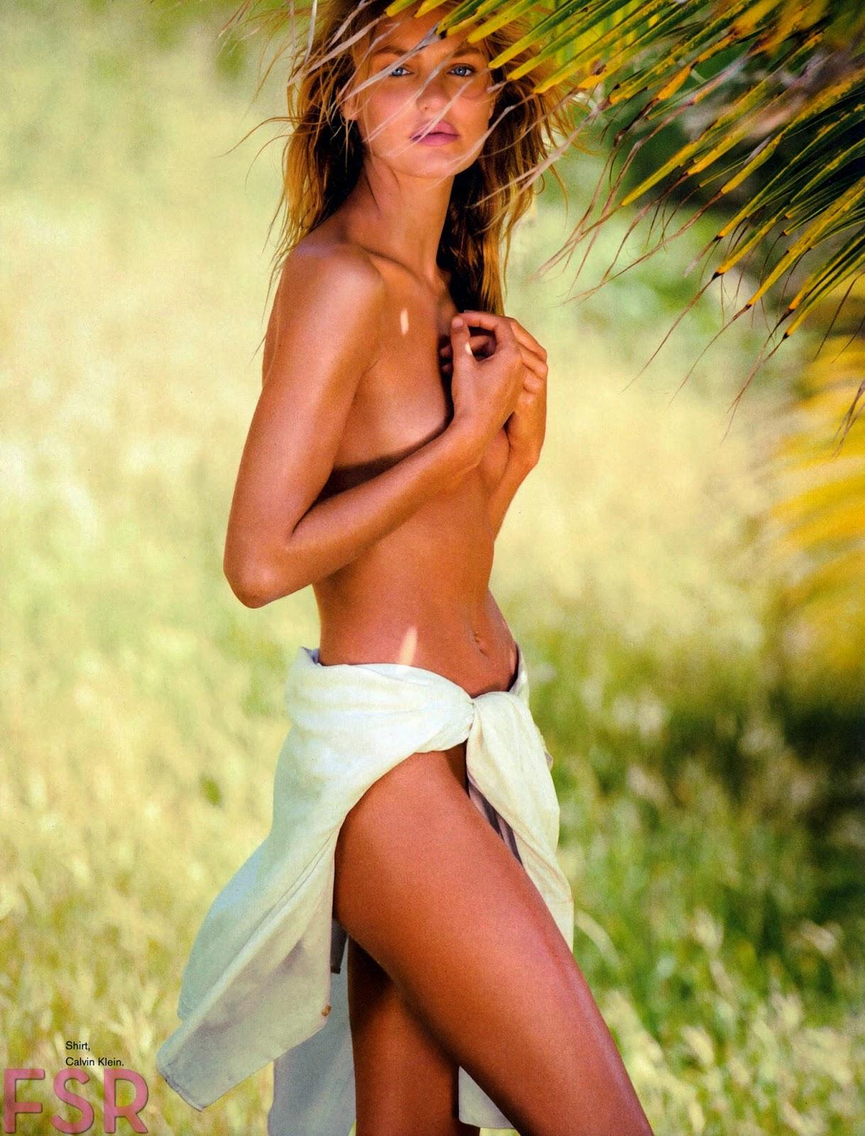 صور الجميلة كانديس سوانبويل في مجلة مكسيم - مارس