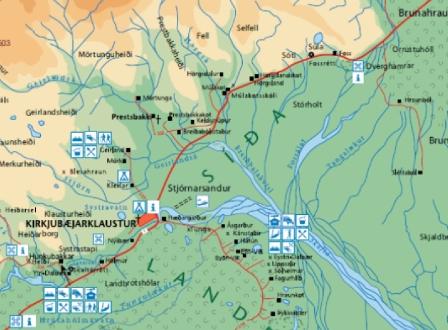 Mapa de Dverghamrar