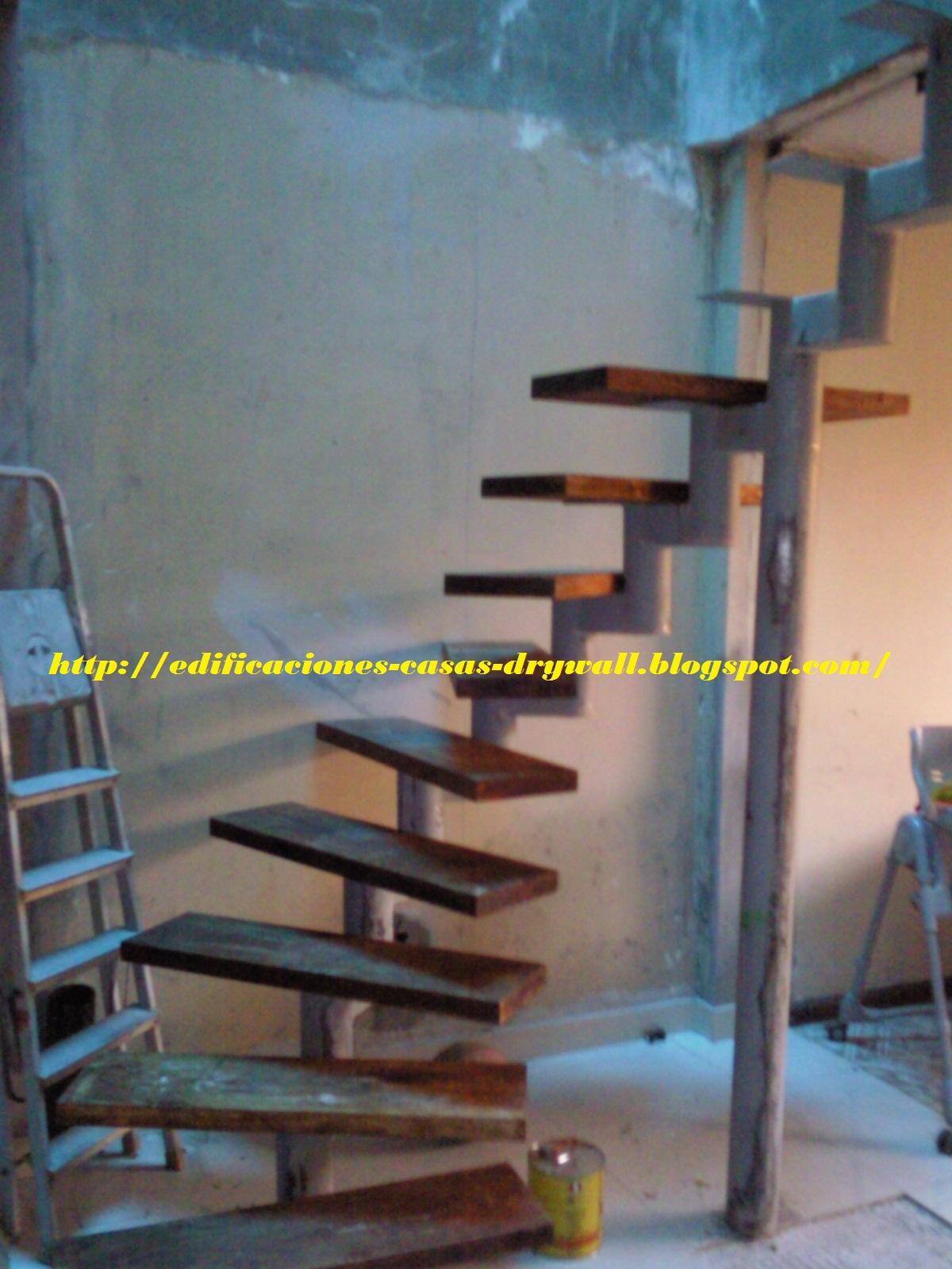 Mmd construcciones escalera curva con pasos de madera y for Escaleras 8 pasos