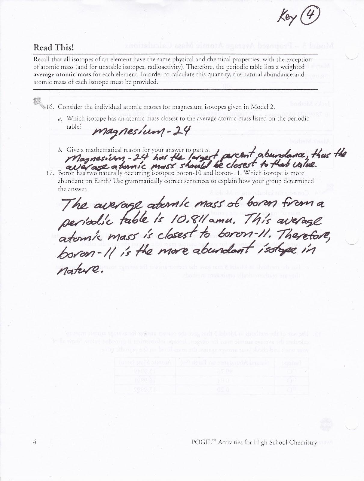 worksheet Atomic Mass Worksheet average atomic mass worksheet pogil 28 templates average