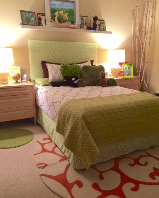 DIY Upholstered Headboard From Cheap O Art Canvases Foam A Shower Curtain