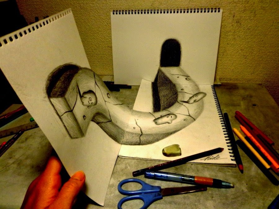 11-Nagai-Hideyuki-永井-秀幸-Hide-3D-Pencil-Art-www-designstack-co