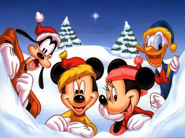 Natal desenho Turma do Mickey Coloridos
