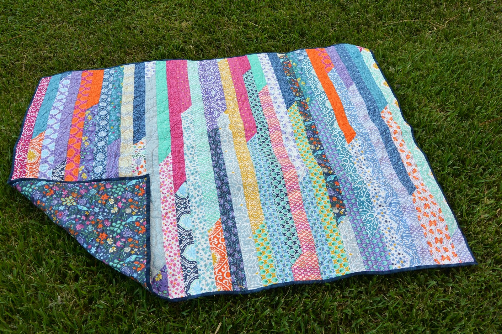 Quilt Pattern Jelly Roll Race : Will Knit for Math: Jelly Roll Race Quilt Finished!