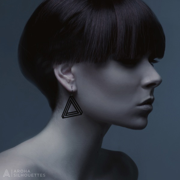 Aroha Silhouettes Bermuda Triangle Earrings Silhouette