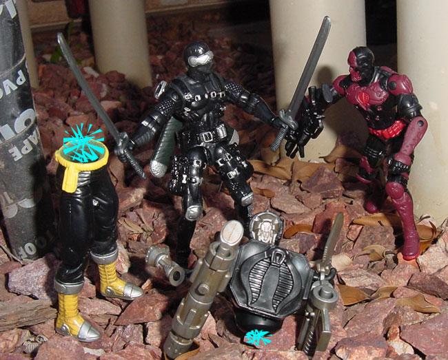 2004 Crimson Sand Viper, Viper, Venom Vs. Valor, BAT, Snake Eyes